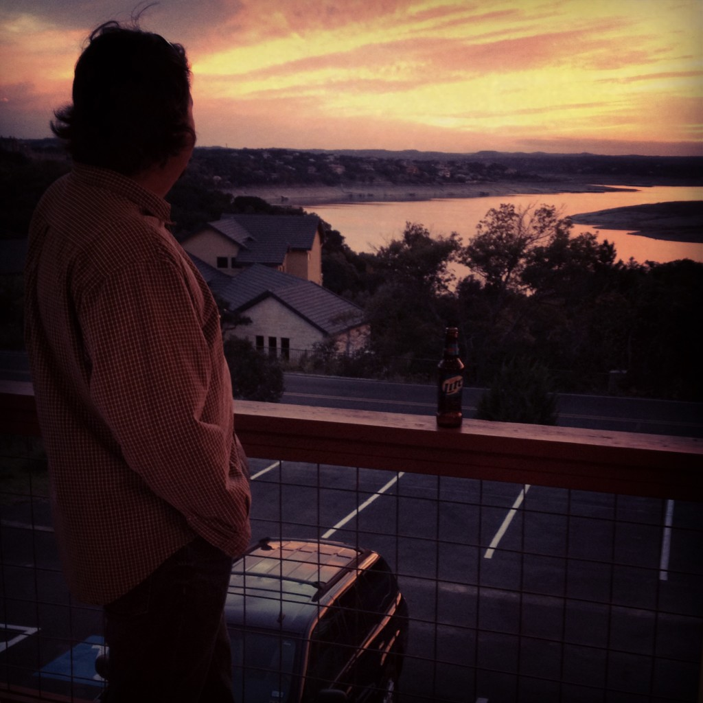 The Water Man, my husband and a man's man, lover of all things Lake Travis.