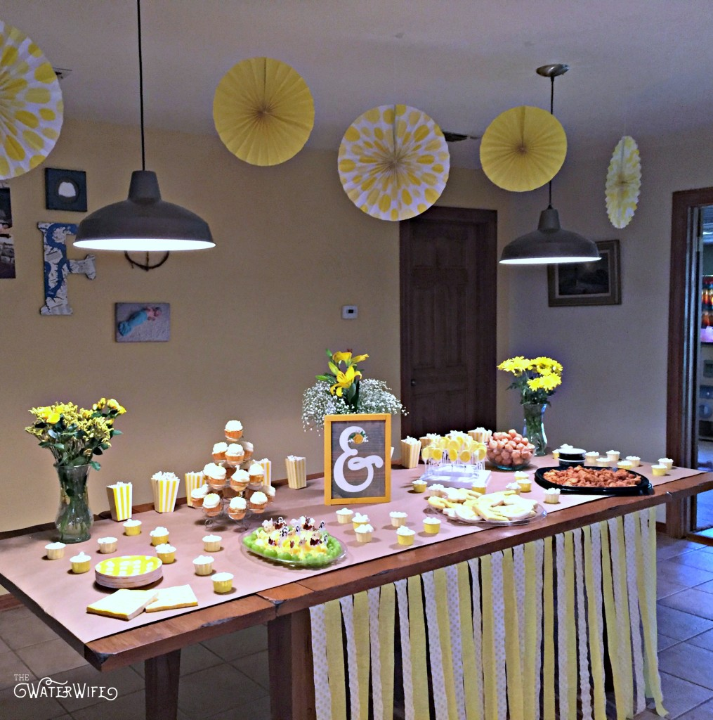 Yellow themed decorations and birthday party ideas.