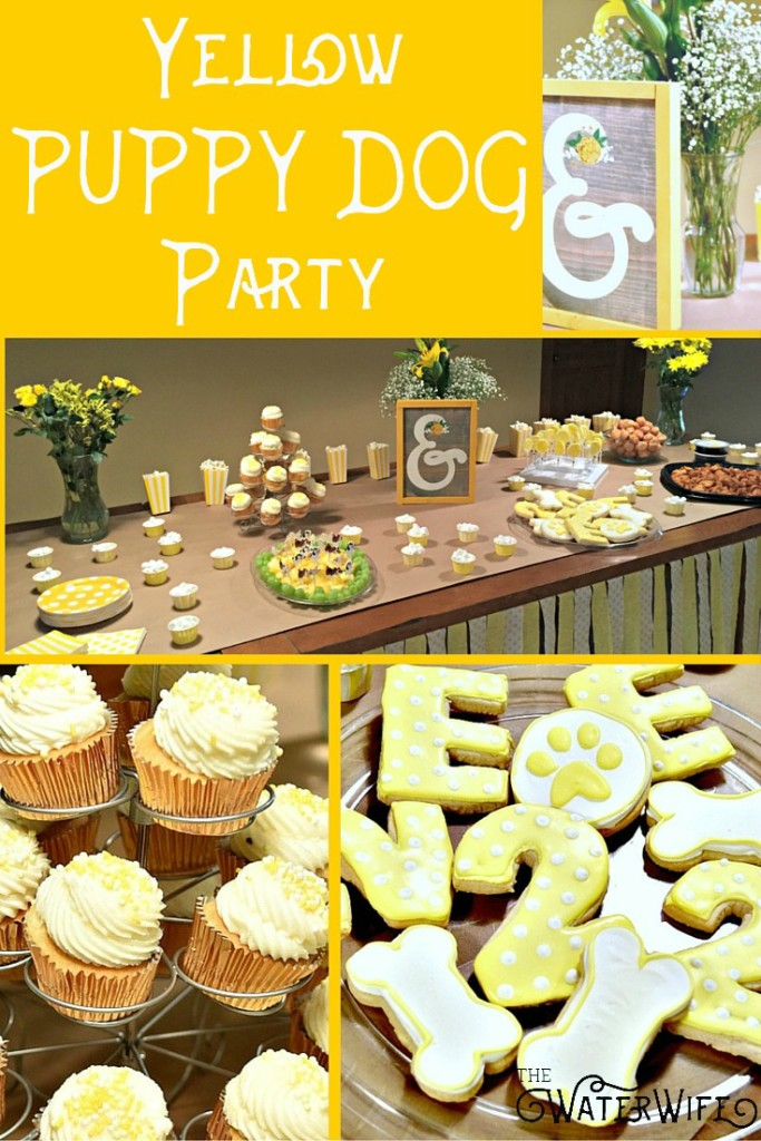 The best children's yellow themed puppy dog birthday party ideas and decorations!