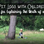 Pet loss is hard and worse with children. Here's helpful tips for supporting and explaining your children with the death of a pet. A must read for parents.