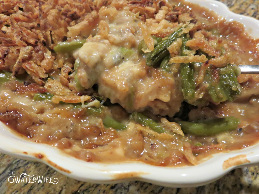 Cheesy green bean casserole recipe is the best side dish recipe!