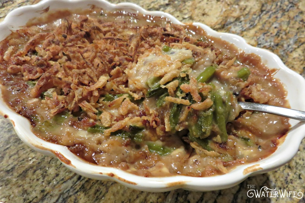 The yummiest green bean casserole makes the best winter side dish!