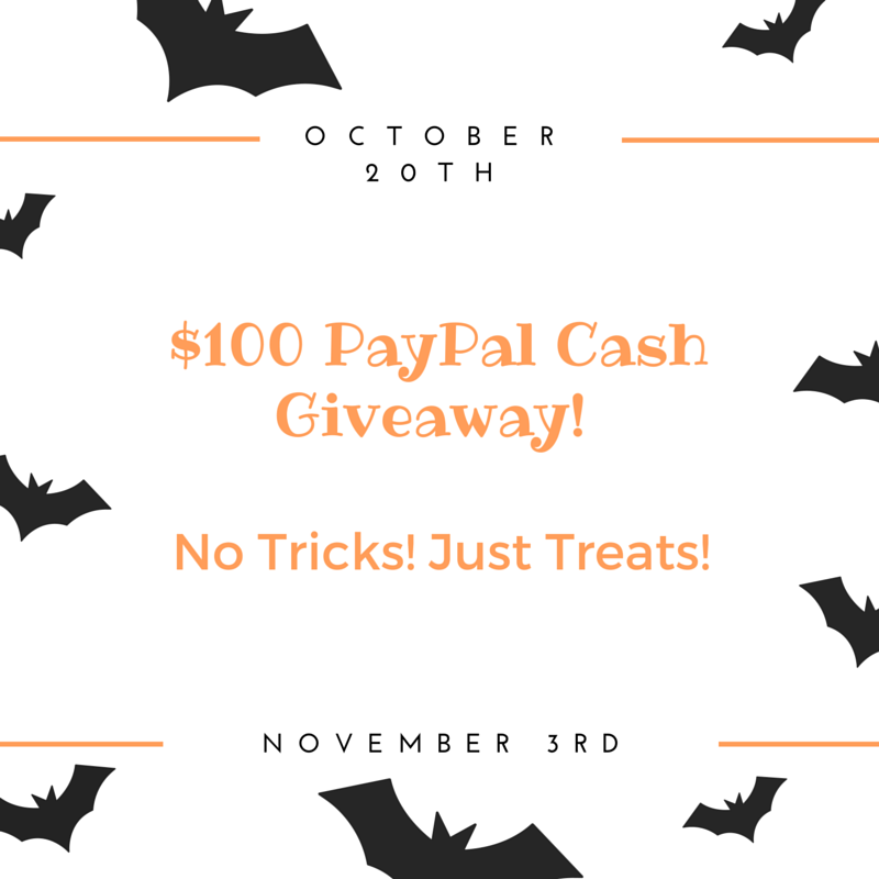 Halloween PayPal Cash Giveaway
