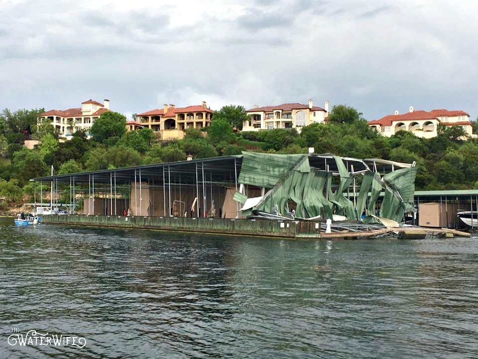 Marinas on Lake Travis got torn up when a tornado blew through in April of 2017. Read one woman's tales of marriage, motherhood and life on the lake!